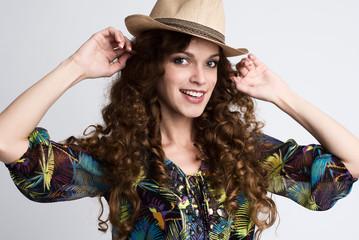 Smiling fashionable girl