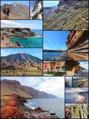 Tenerife - travel collage