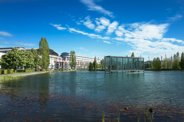 Lake in front of Munich Trade Fair