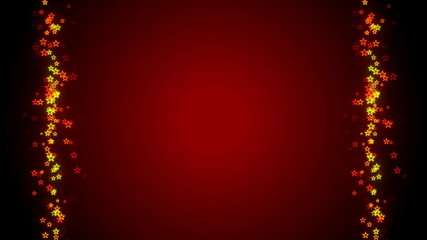 red background, frame, particle star, loop