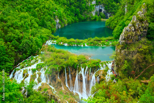 Fototapety, obrazy : Waterfalls in Plitvice National Park