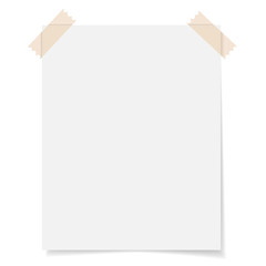 Blank Sheet Paper With Adhesive Tape