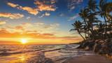 Fototapety Landscape of paradise tropical island beach