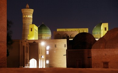 Night view of Kalon minaret - Bukhara - Uzbekistan