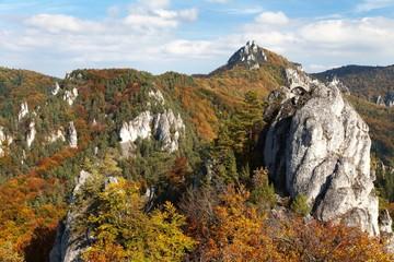 Autumnal view from Sulov rockies - sulovske skaly