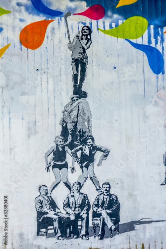 obraz lub plakat Graffiti - Streetart