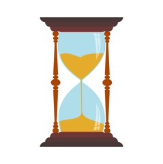 Sand Hourglass isolated on white background - illustration