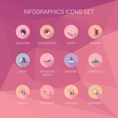 Set of infographics, illustration, background