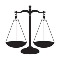 Icono aislado balanza gris