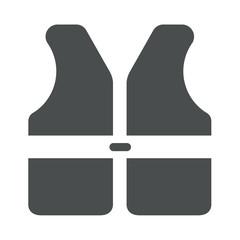 Icono aislado chaleco seguridad gris