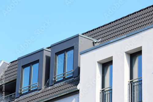 Zdjęcia zwei Dachgauben auf Neubau