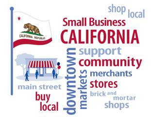 California Flag, shop small business, stores, advertise, PR