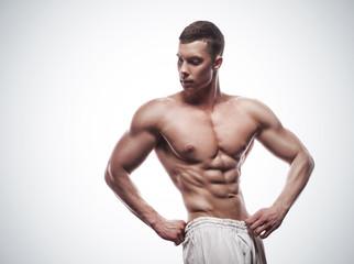 young athlete bodybuilder man