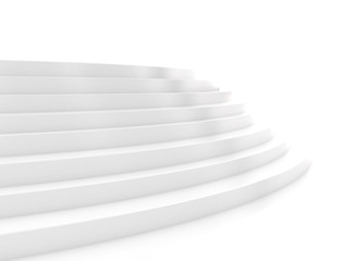 Steps glossy white texture on white background. Business design