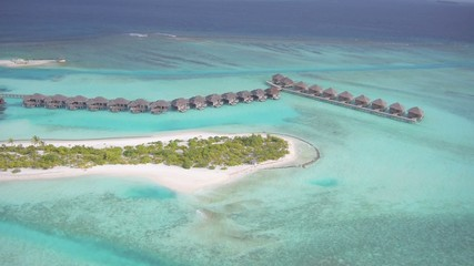 Aerial view of beautiful Maldives islands