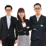 Asian Multi Ethnic Cheerful Business People
