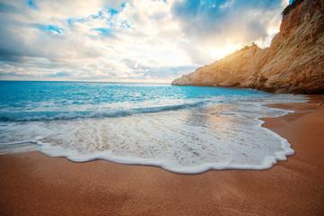 Porto Katsiki beach on Lefkada island