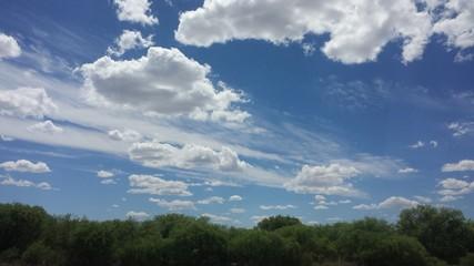 Las Nubes en el Cielo de Chihuahua, México.