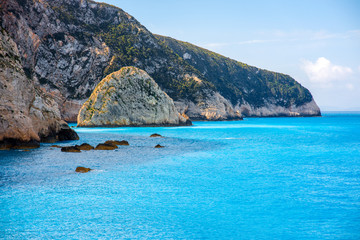 Coastline at Lefkada island in Greece