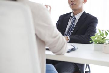Men have an interview