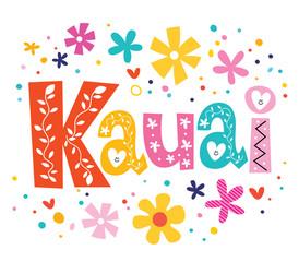 Kauai vector lettering decorative type