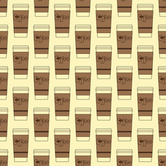 Take away coffee cup background
