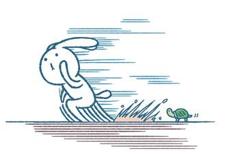 ウサギとカメ