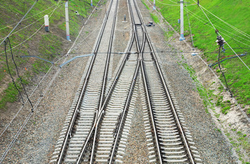 Railway tracks. View from above