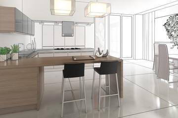 Kitchen Arrangement (draw)