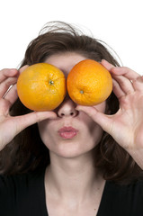 Woman and Orange