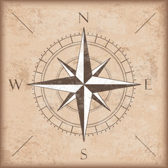 Vintage Background Brown Compass