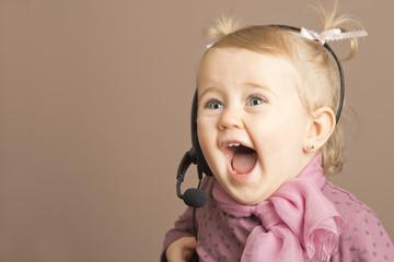 Little girl thrilled