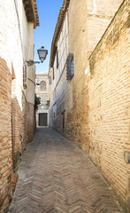 Narrow street in the old town of Toledo, Spain