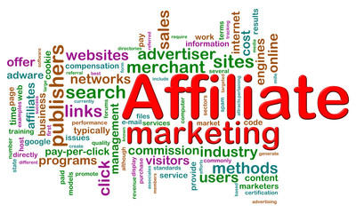 Wordcloud of affiliate marketing