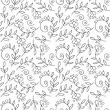 Flower vector seamless pattern. Floral print.