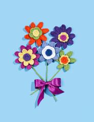 gehäkelter Blumenstrauss