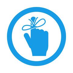 Icono redondo memoria azul