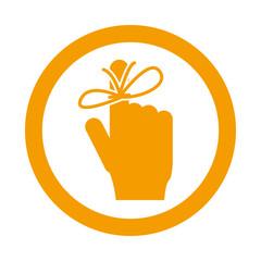 Icono redondo memoria naranja