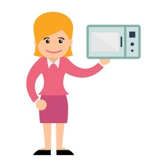 Woman in Electronic Environment