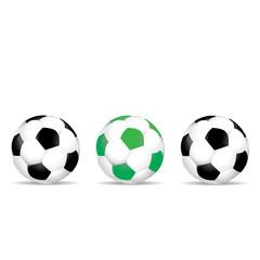 Set of colored soccer balls vector illustration