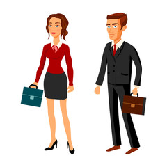 set characters design. office team. vector. man women