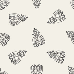 king doodle seamless pattern background