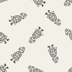 prince doodle seamless pattern background