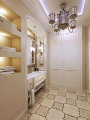 Bright bathroom design