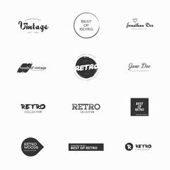 Minimal vintage and retro vector logos illustrations
