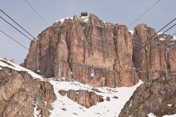 Dolomites in Italy in winter