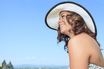 Portrait beautiful hat