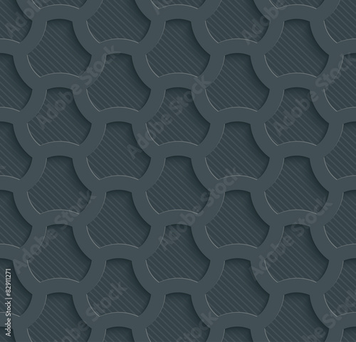 3D Dark Gray Seamless Perforated Wallpaper. - 82911271