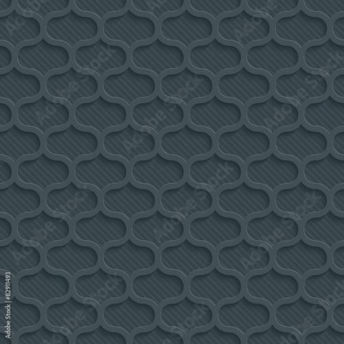 3D Dark Gray Seamless Perforated Wallpaper. - 82911493