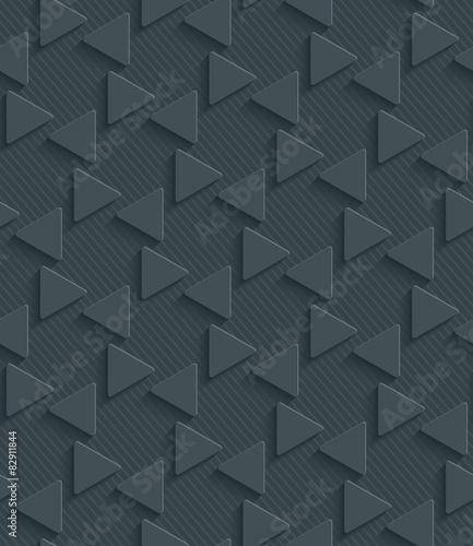 3D Dark Gray Seamless Perforated Wallpaper. - 82911844